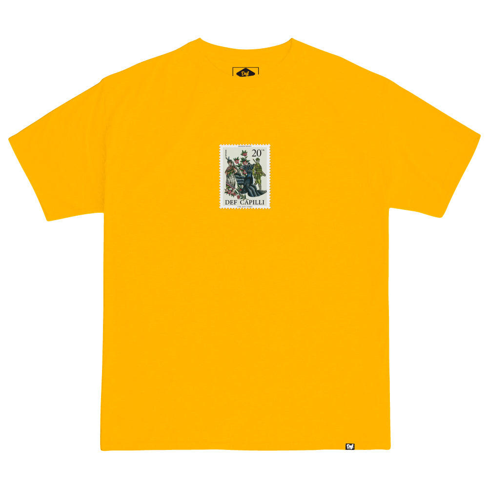 Def x Capilli Stamp Tee - Gold