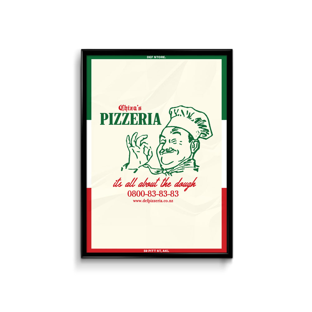 Def Chiza's Pizzeria Poster - A3