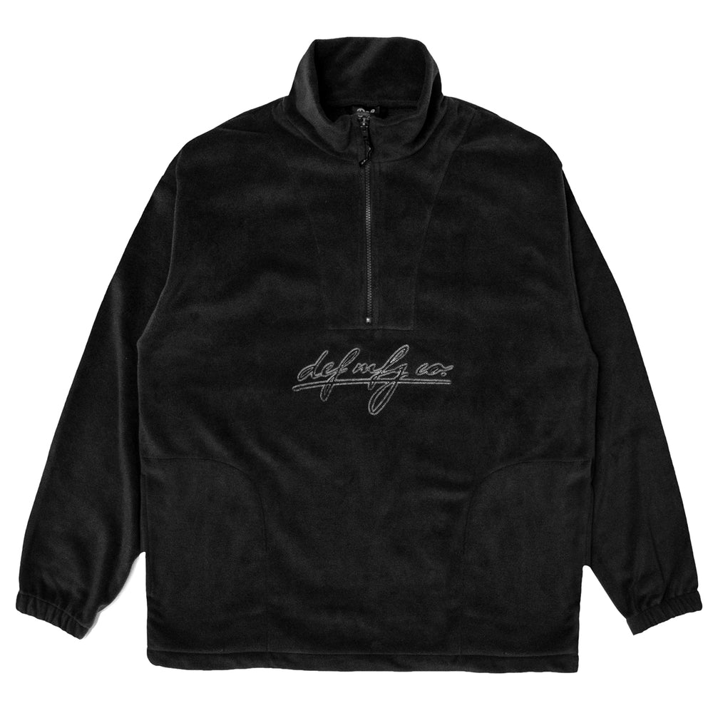 Load image into Gallery viewer, Def Class Stitch 1/4 Zip Polarfleece - Black