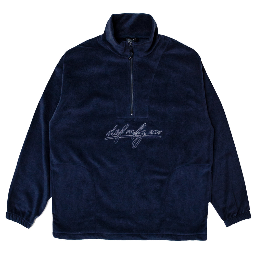 Load image into Gallery viewer, Def Class Stitch 1/4 Zip Polarfleece - Navy