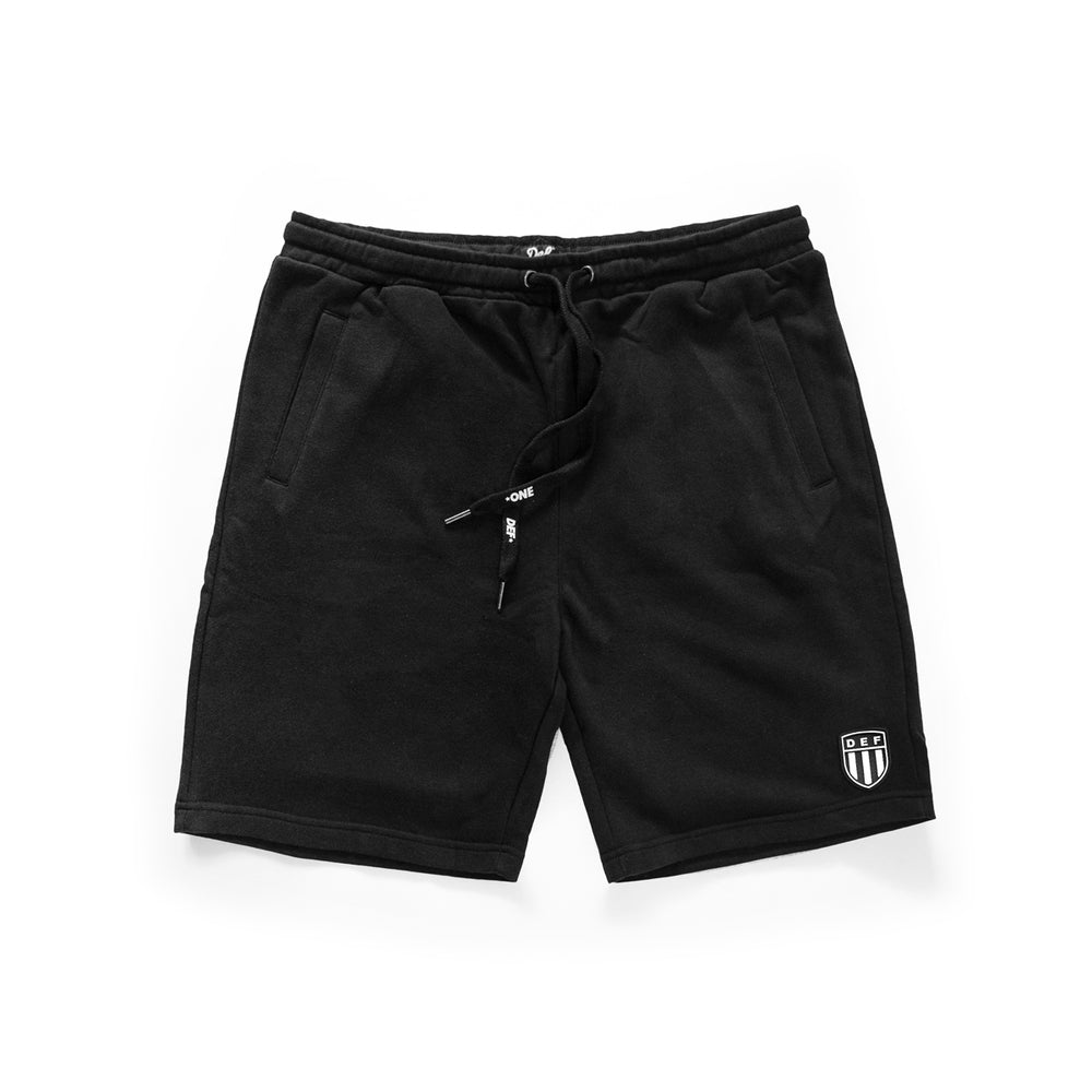 Def Crest Rubber Patch Terry Short - Black