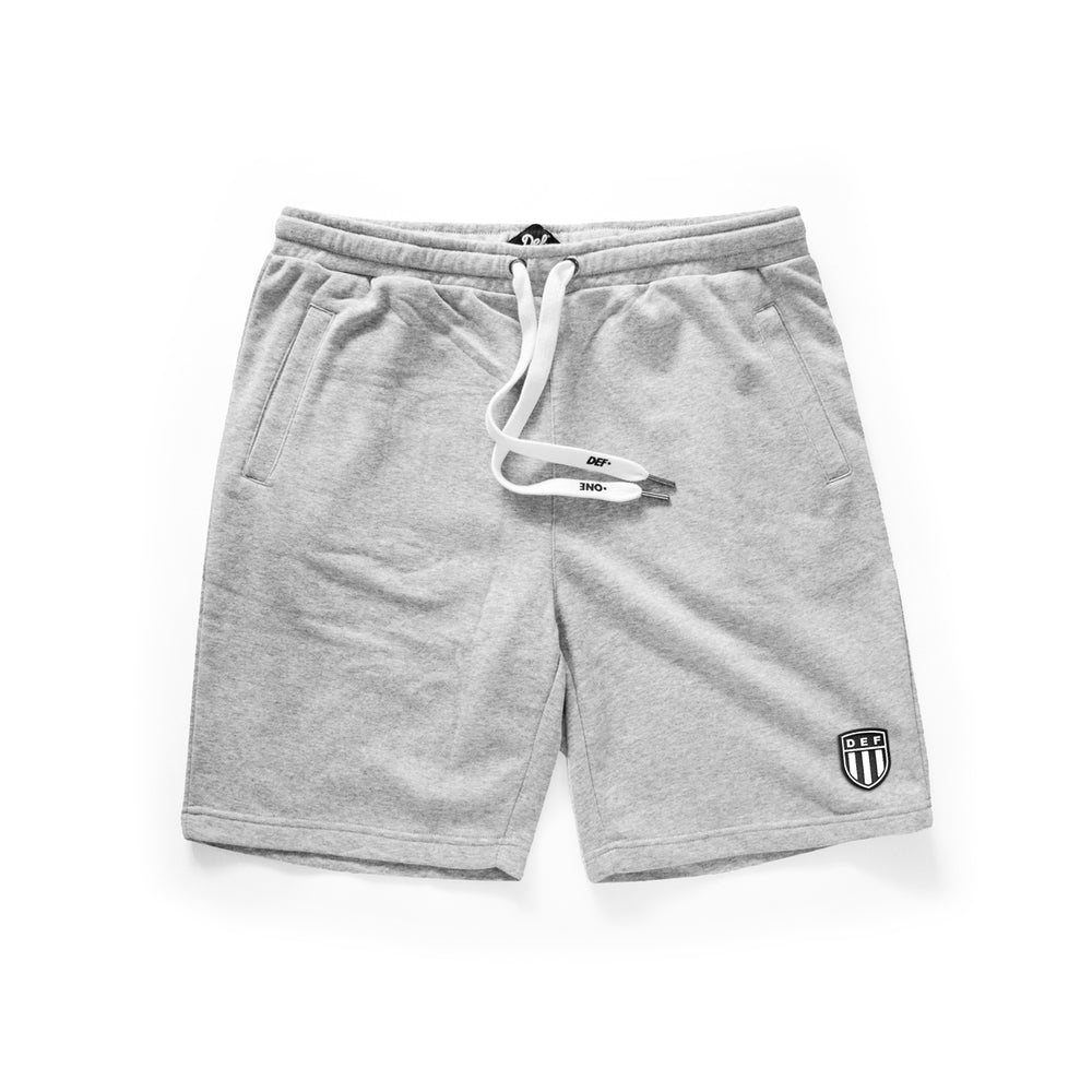 Def Crest Rubber Patch Terry Short - Heather Grey