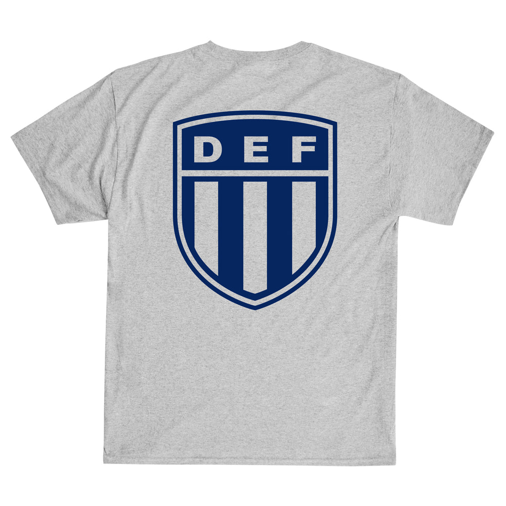 Def Crest Tee - Heather Grey