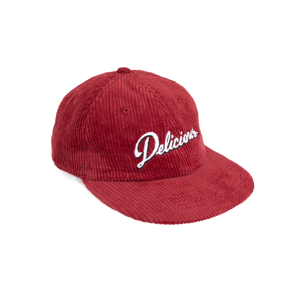 Load image into Gallery viewer, Def Delicious Corduroy Cap - Cardinal Red