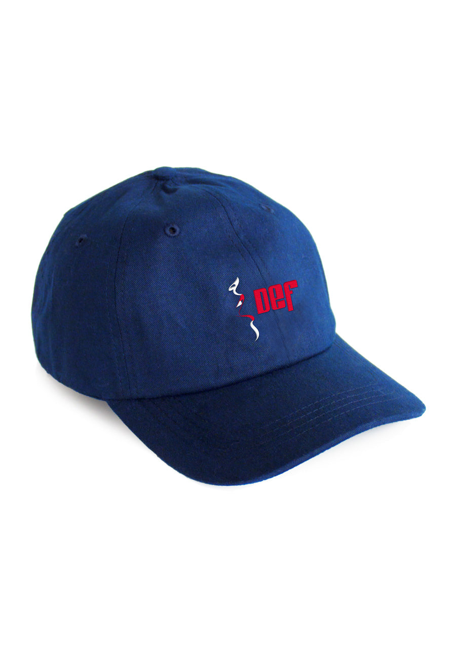 Def Entertainment Dad Cap - Royale Blue – Def Store. 1a275aa60af