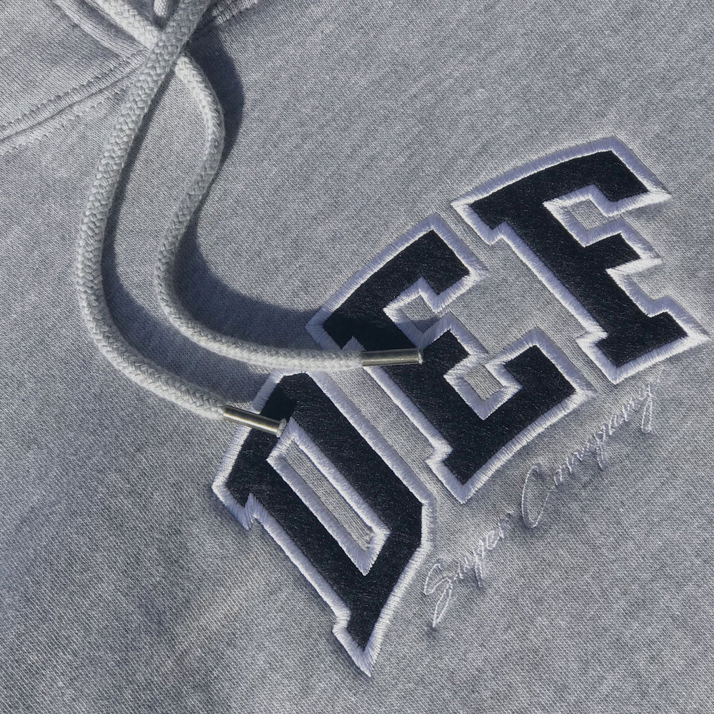 Load image into Gallery viewer, Def Super Appliqué Hood - Heather Grey (Mid-Weight)