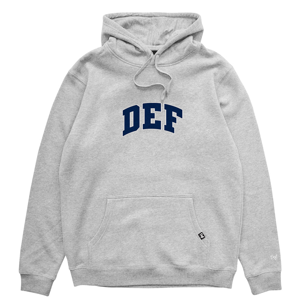 Def Super Appliqué Hood - Heather Grey (Mid-Weight)