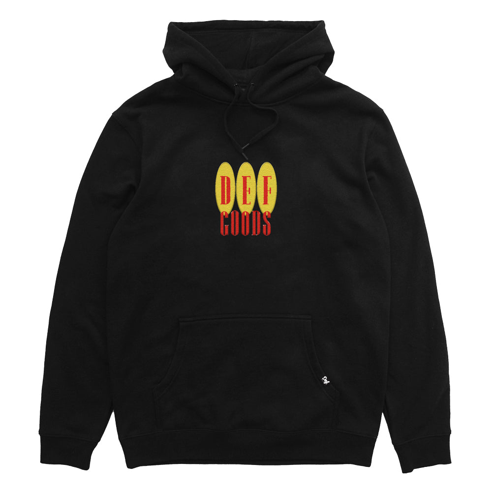 Def Goods Embroidered Hood - Black (Heavy-Weight)