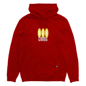 Def Goods Embroidered Hood - Red (Heavy-Weight)