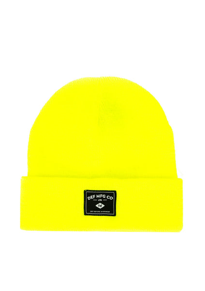 Def Hiace Patch Beanie - Fluro Yellow(G)