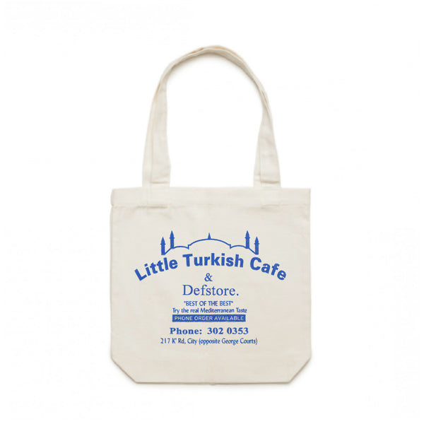 Def Store x Little Turkish Cafe Tote Bag - Off White