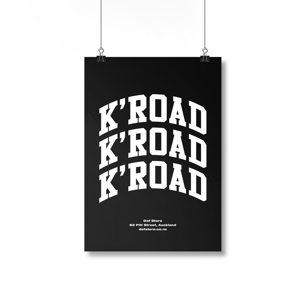 K'Road Arch Black Poster - A2 Size