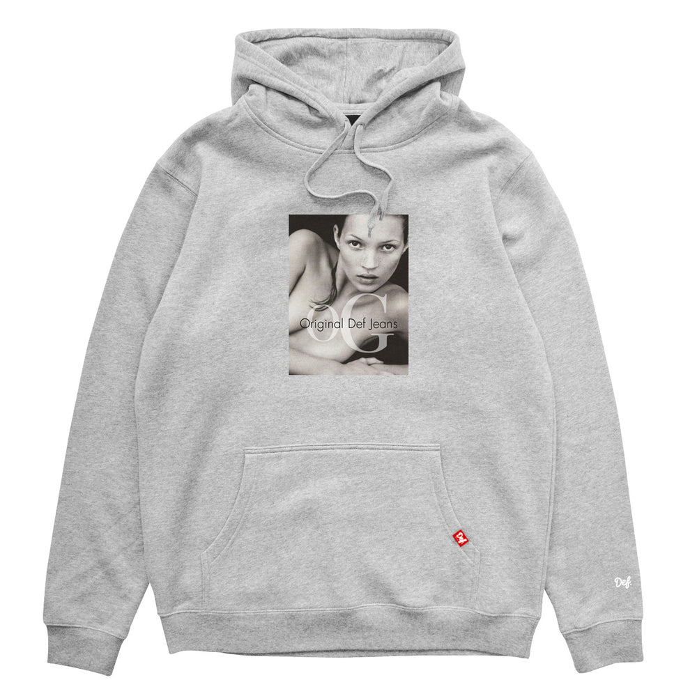 Def Kate Or Die Hood - Heather Grey (Mid-Weight)