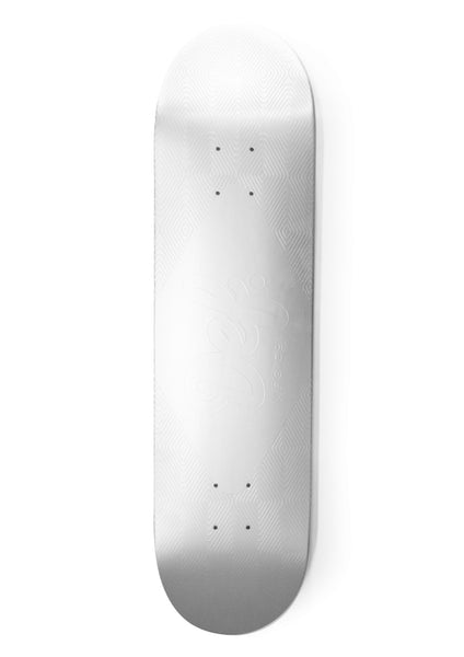 Def Matte Metallic Embossed 8' and 8.38' Logo Deck - Silver