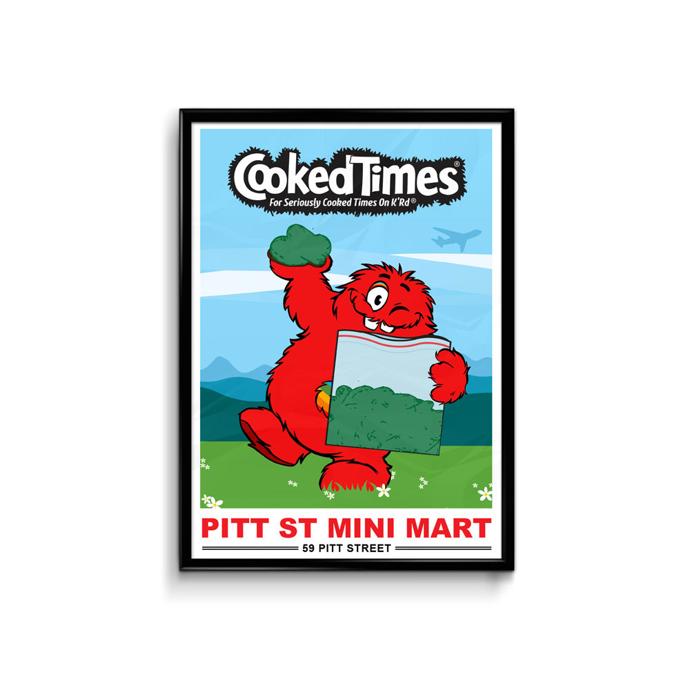 Def Mini Mart Cooked Times Poster - A3