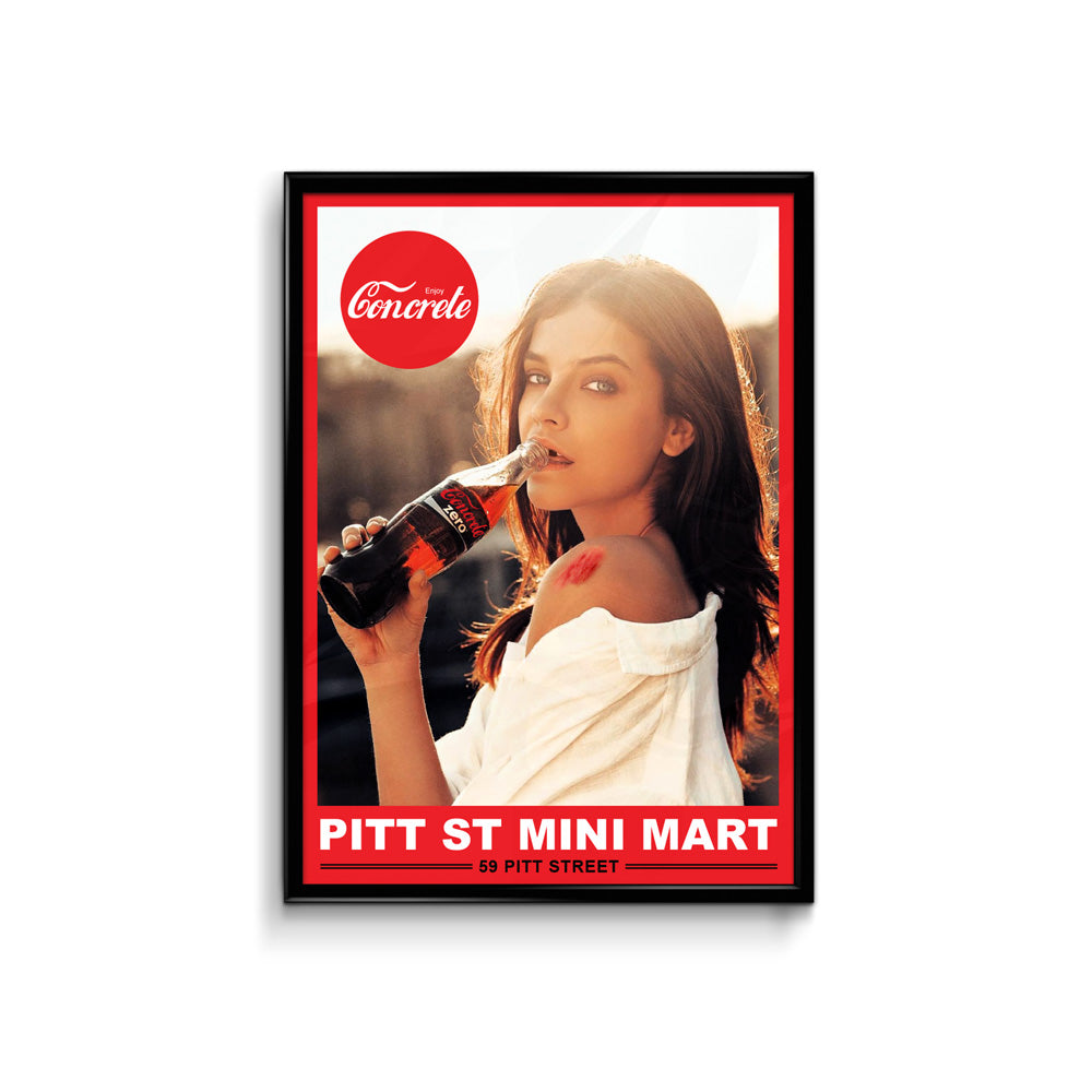 Def Mini Mart Enjoy Concrete Poster - A3