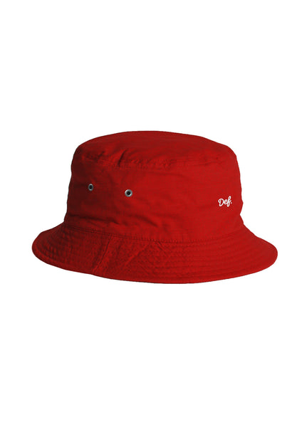 Def Mini Signature Bucket Hat - Red