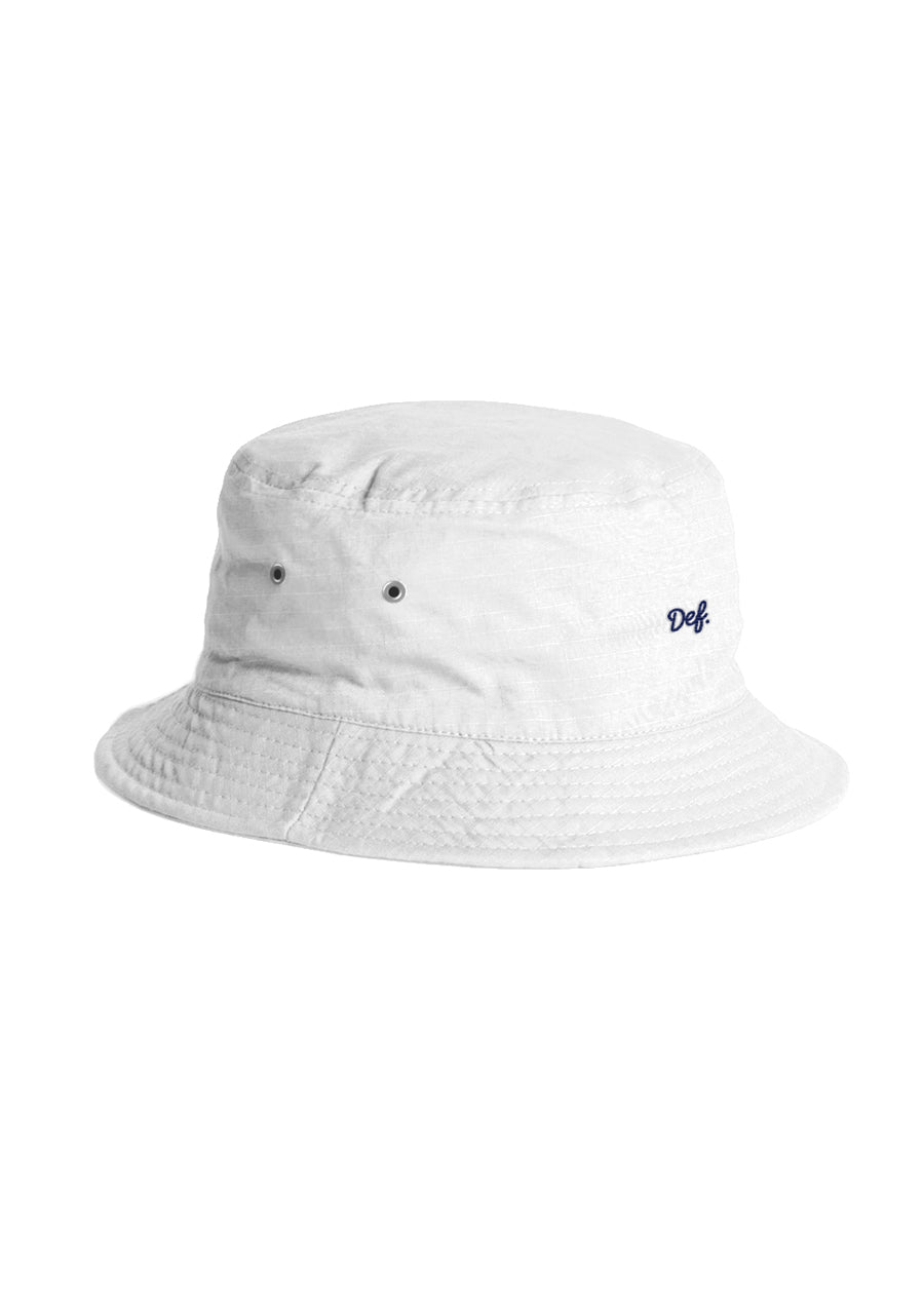 Def Mini Signature Bucket Hat - White