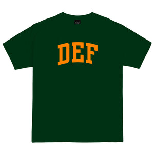 Def NZD Arch Flock Tee - Forest Green