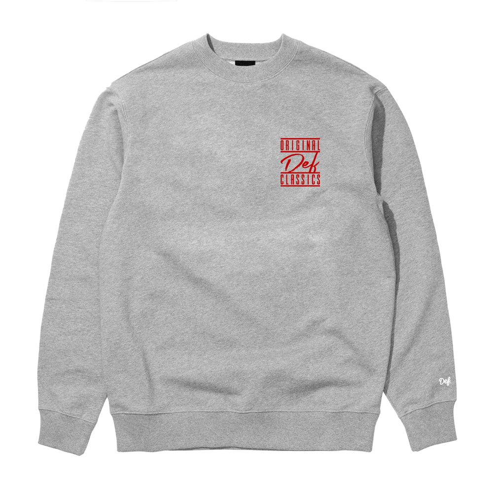 Def ODC Crew - Heather Grey (Mid-Weight)