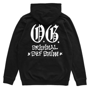 Load image into Gallery viewer, Def OG Cholo Puff Print Hood - Black (Mid-Weight)