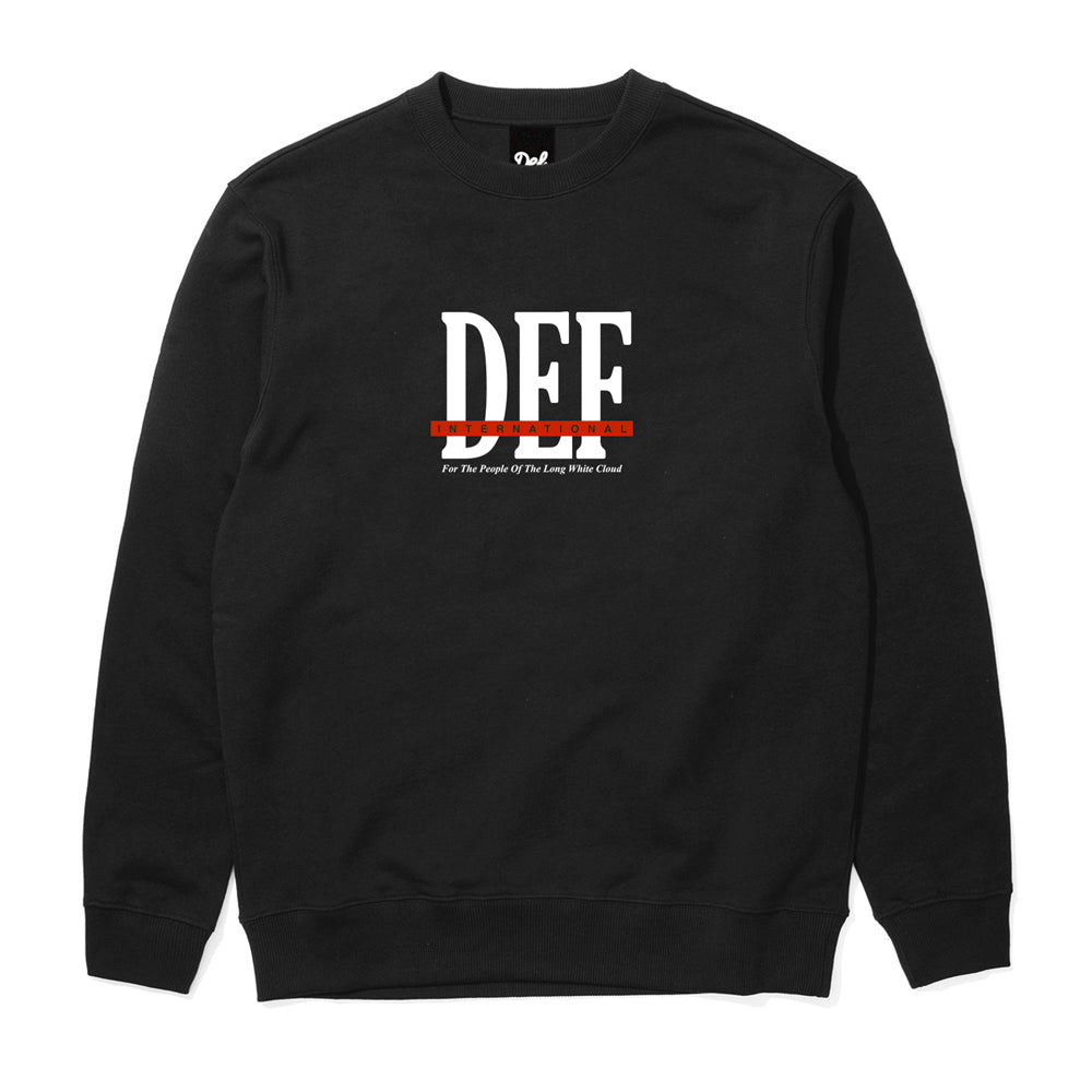 Def People Crew - Black (Mid-Weight)