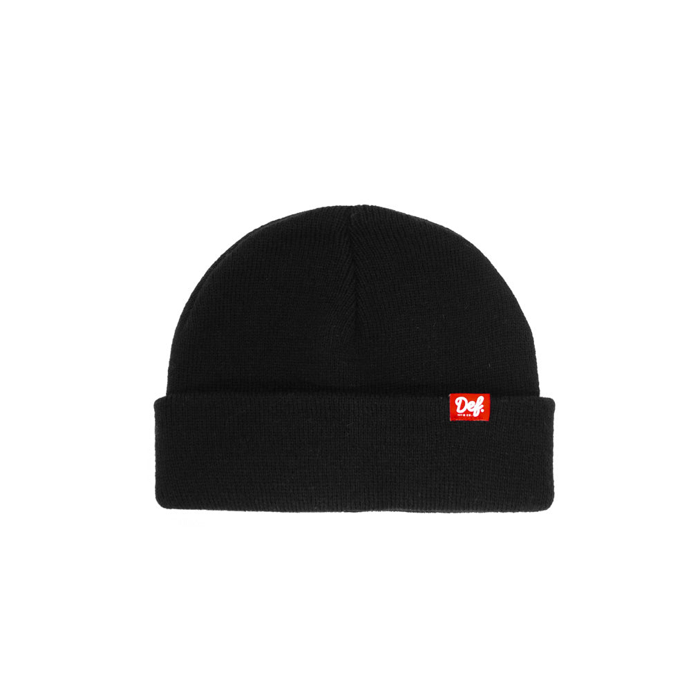 Def Pip Fisherman Beanie - Black