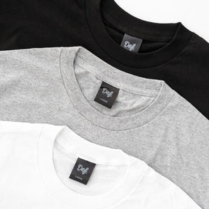 Load image into Gallery viewer, 3x Def Pip Heavyweight Tee Pack - White/Heather/Black