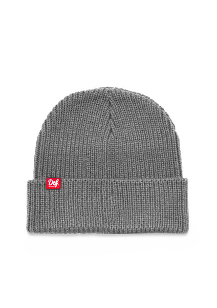 Def Pip Fisherman Ribbed Beanie - Grey