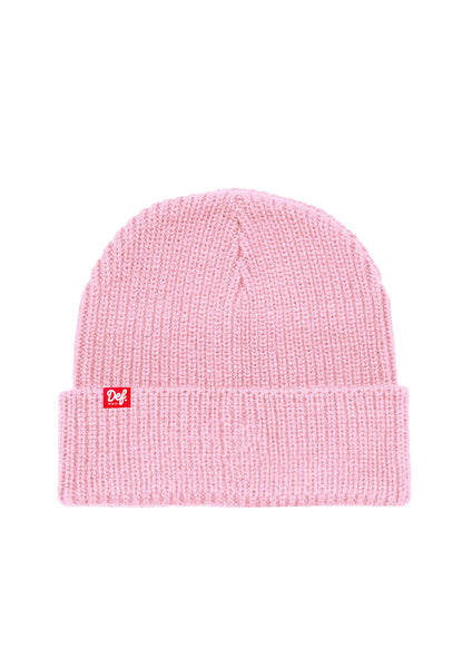 Def Pip Fisherman Ribbed Beanie - Light Pink (G)