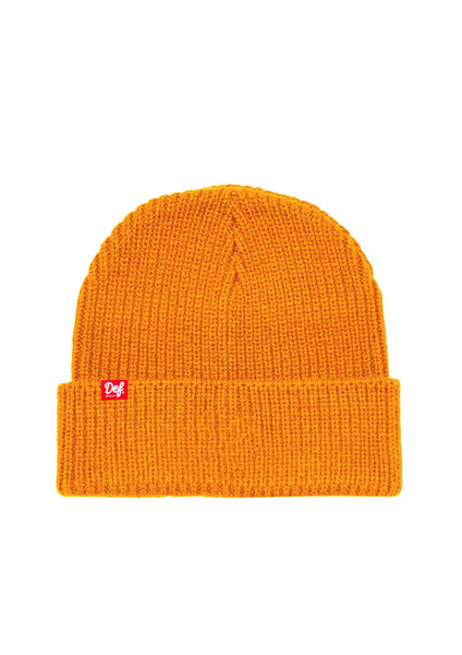 Def Pip Fisherman Ribbed Beanie - Orange
