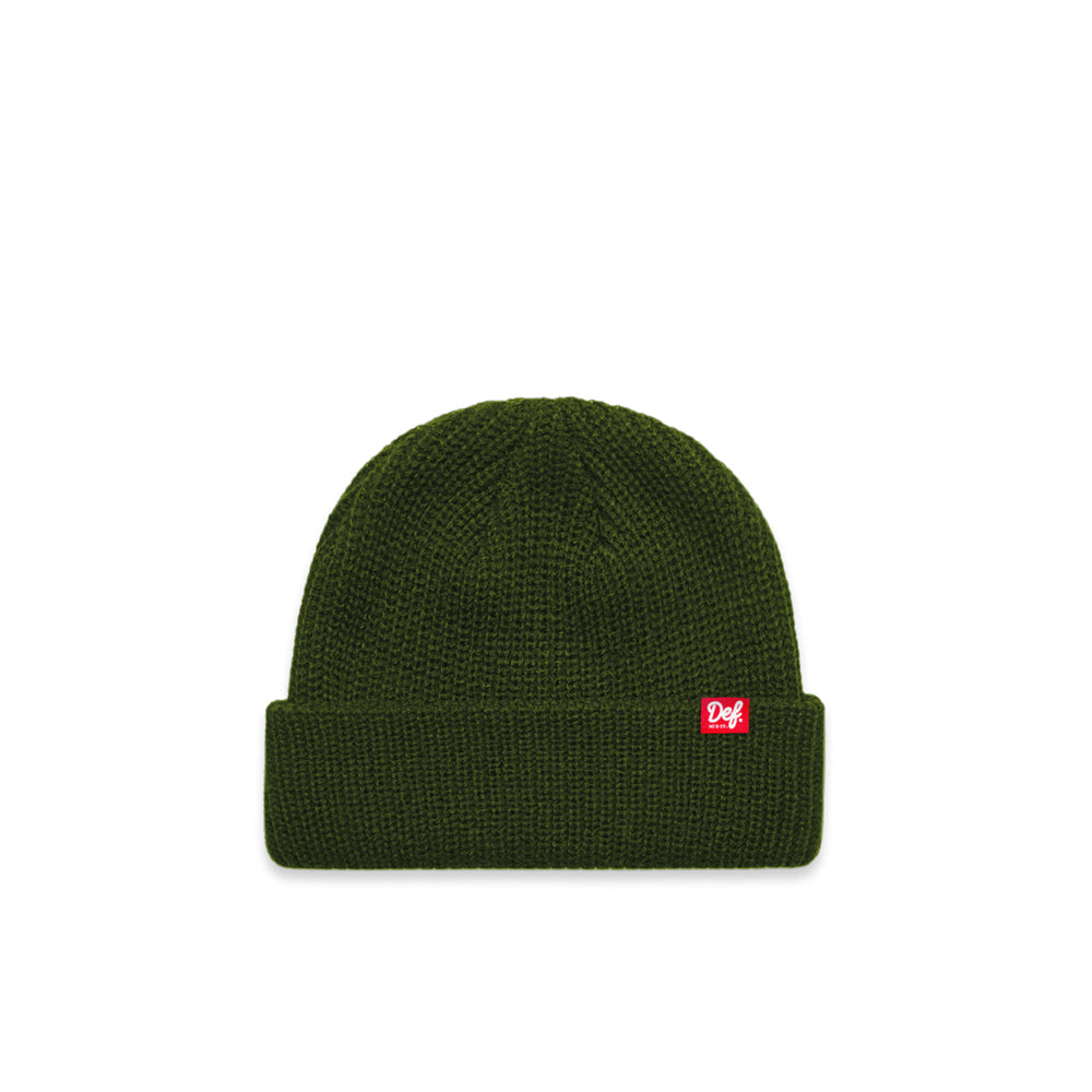 Def Pip Panini Ribbed Beanie - Forest Green
