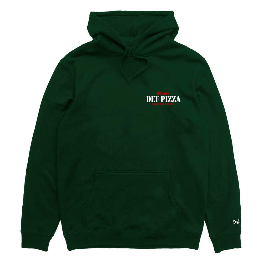 Def Chiza's Pizzeria Hood - Forest Green (Mid-Weight)