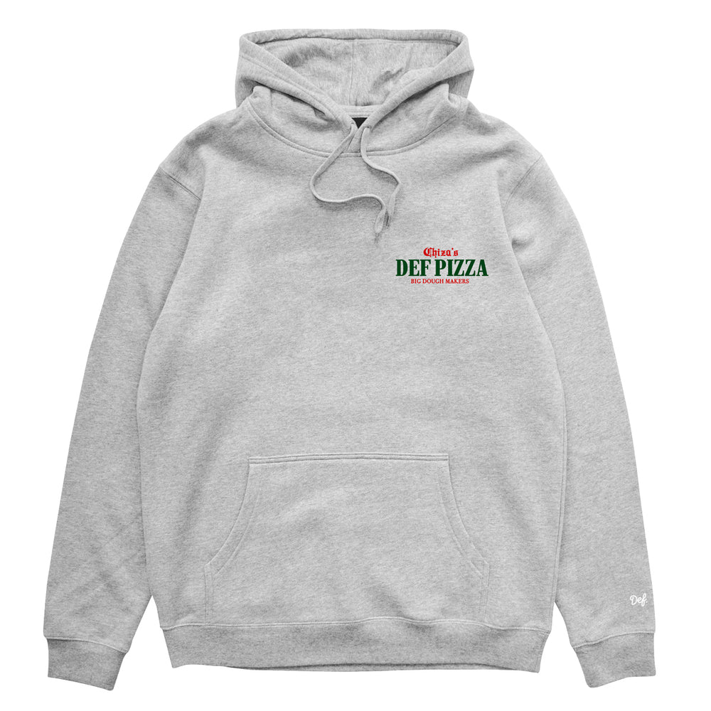 Def Chiza's Pizzeria Hood - Heather Grey (Mid-Weight)