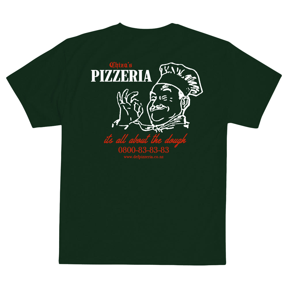Def Chiza's Pizzeria Tee - Forest Green