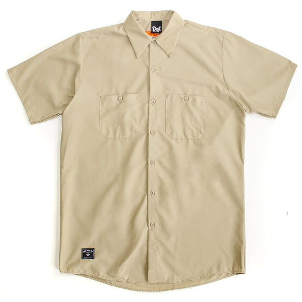 Def Red Kap Work Shirt - Khaki
