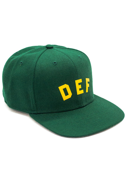Def School-Hi Snapback Cap - Forest Green
