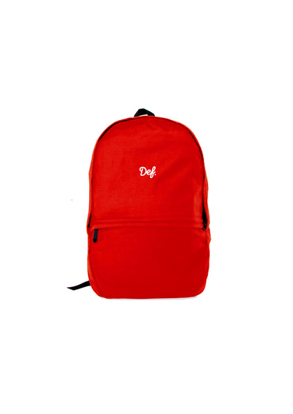 Def Signature Chino Backpack - Red
