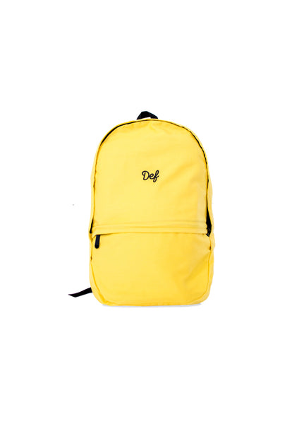 Def Signature Chino Backpack - Yellow