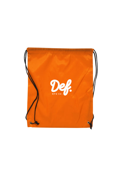 Def Signature Drawstring Bag - Orange