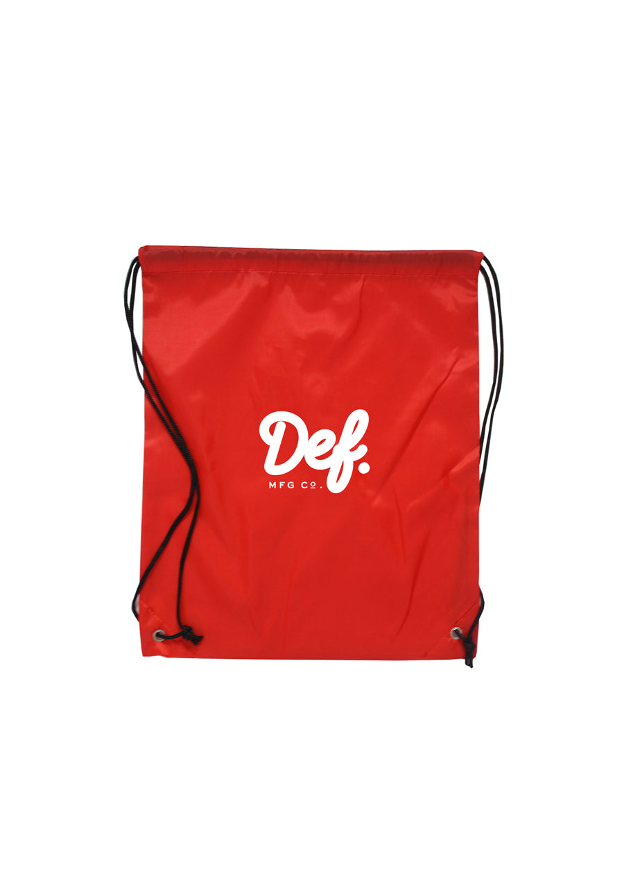Def Signature Drawstring Bag - Red