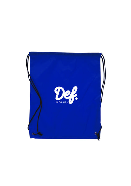 Def Signature Drawstring Bag - Royal Blue