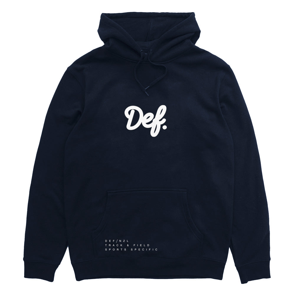 Def Signature Flock Hood - Navy (Premium Heavy-Weight) (W2)