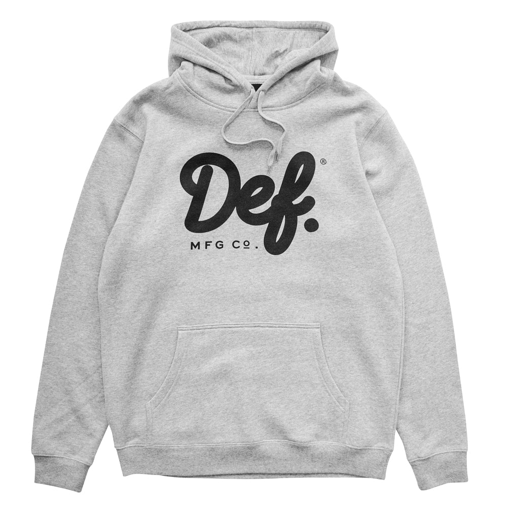 Def Signature Hood - Heather Grey