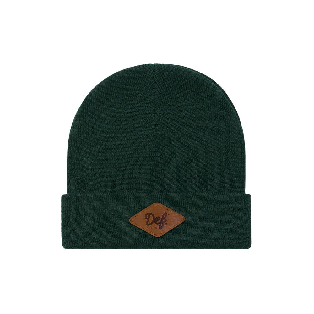 Def Signature Patch Beanie - Forest Green