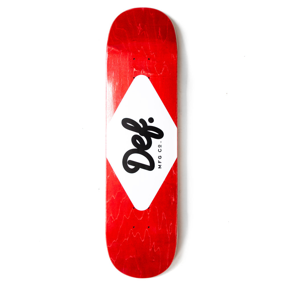 Def Ply Logo Red Deck - 8.0""