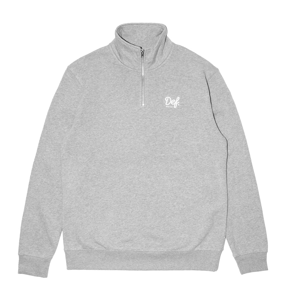 Def Signature Quarter Zip Sweater - Heather Grey
