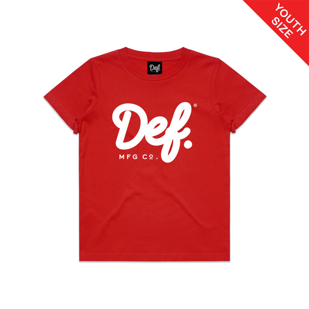 Def Signature YOUTH Tee - Red