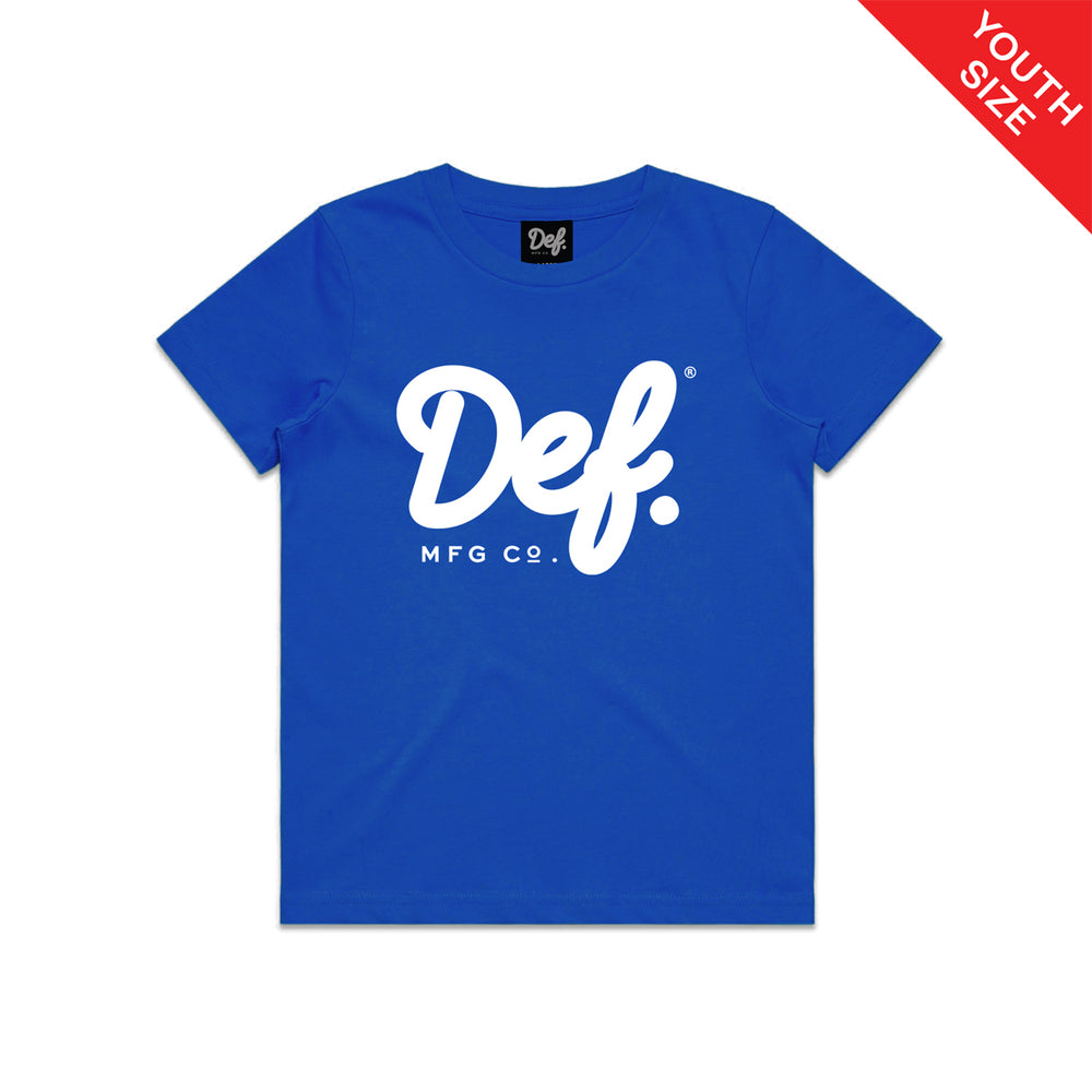 Def Signature YOUTH Tee - Royal Blue