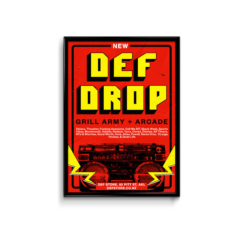 Def Store New Drop Poster - A3